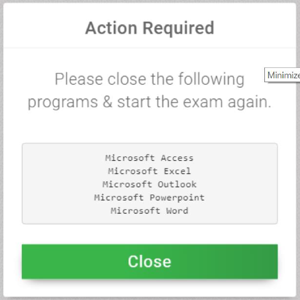 action required notification for closing other programs
