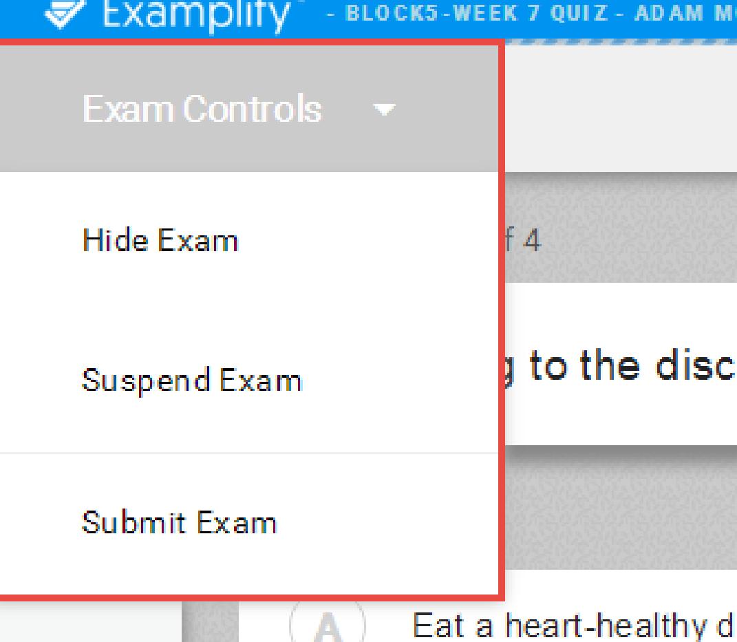 general exam controls
